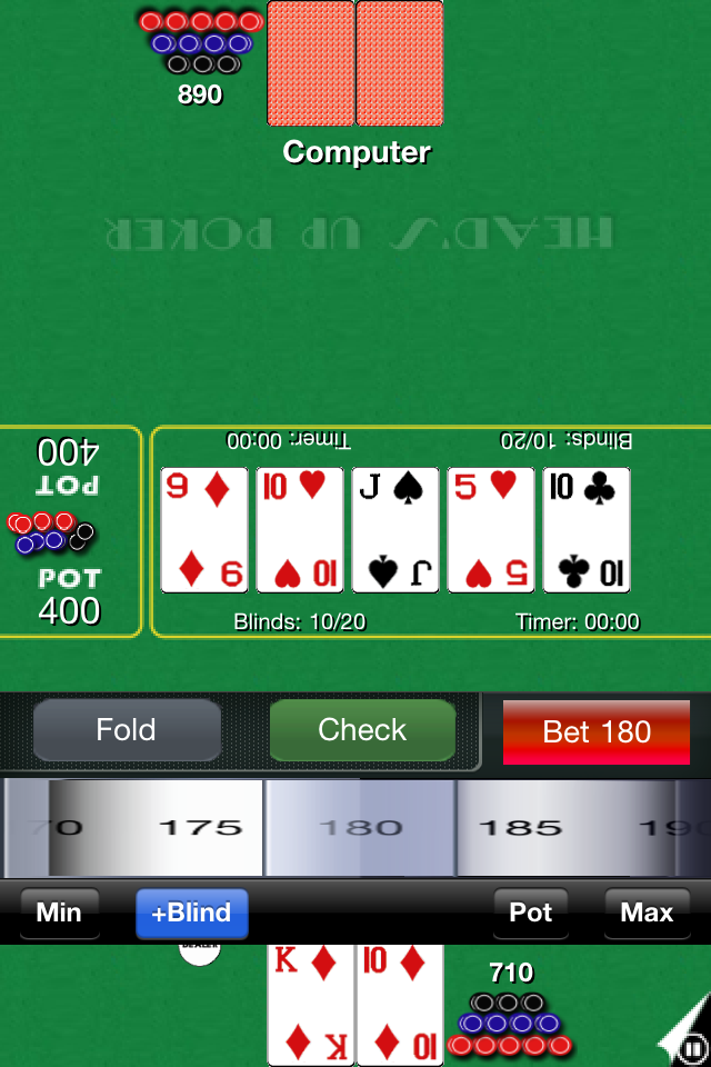Screenshot H'Up Poker